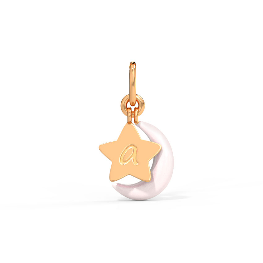 Personalised Star and Moon Charm