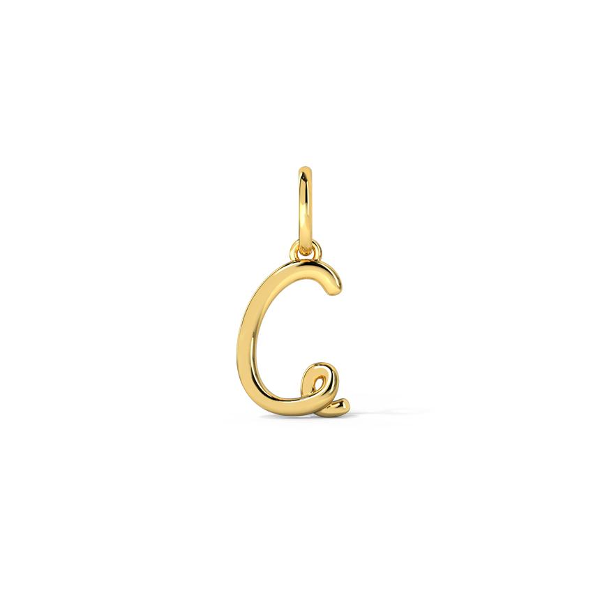 Alphabet C Cursive Charm