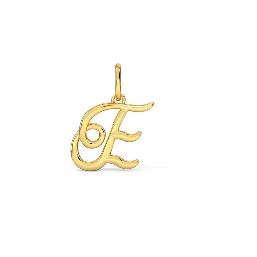 Alphabet E Cursive Charm