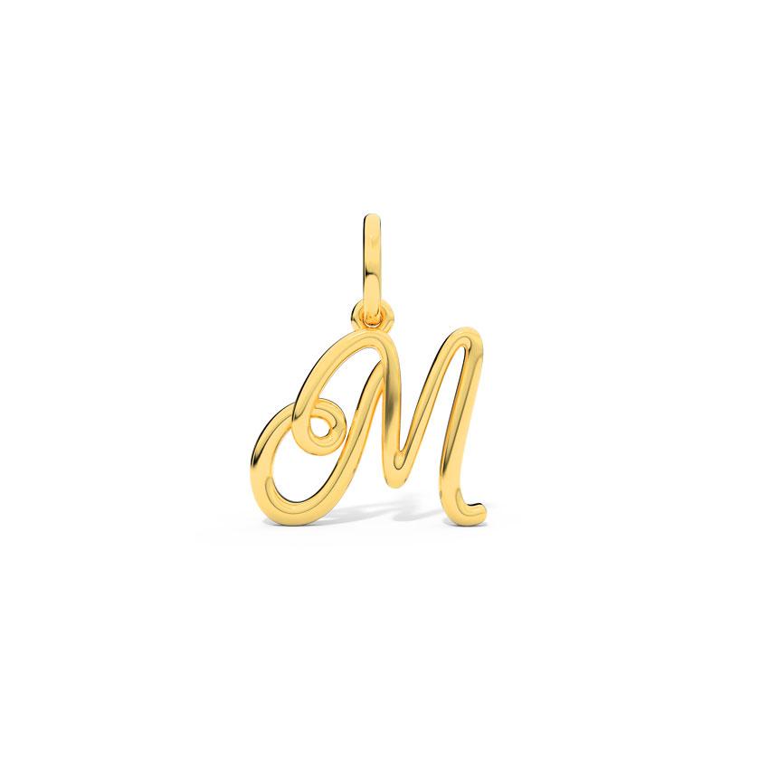 Alphabet M Cursive Charm