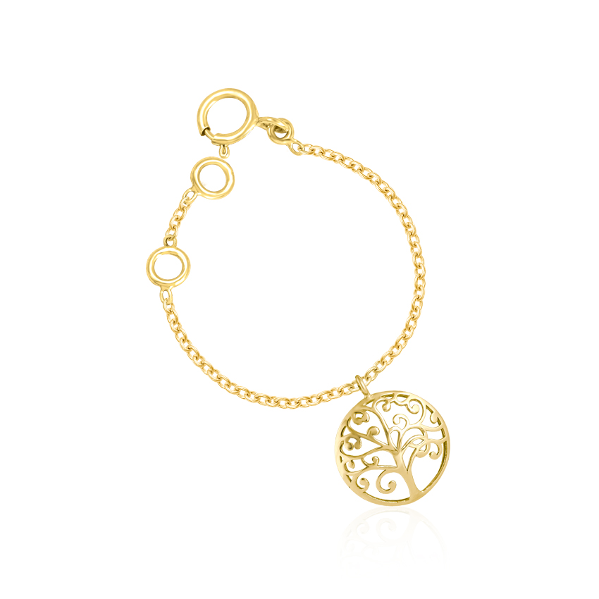 Gold Charms 14 Karat Yellow Gold Tree of Life Gold Watch Charm