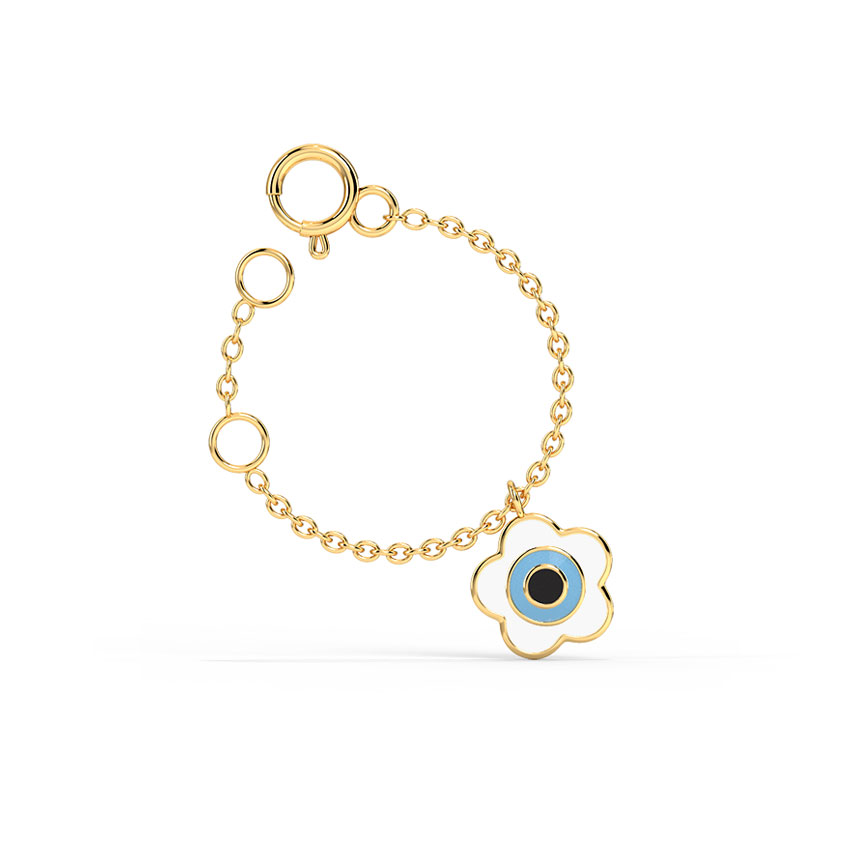 Gold Charms 14 Karat Yellow Gold Buttercup Evil Eye Gold Watch Charm
