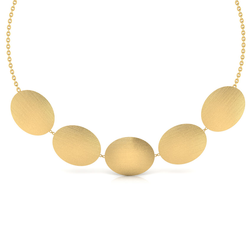 Gold Necklaces 18 Karat Yellow Gold Haley Stamped Gold Necklace