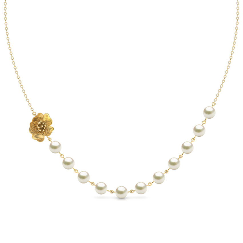 Floret Pearl String Necklace