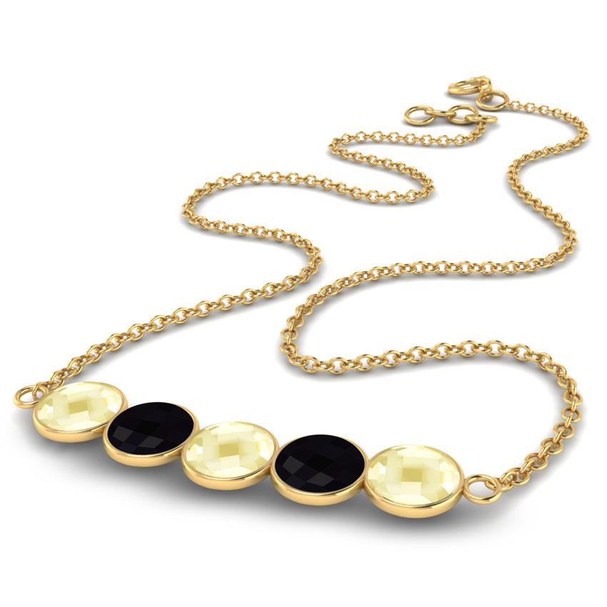 Serie Gemstone Bar Necklace