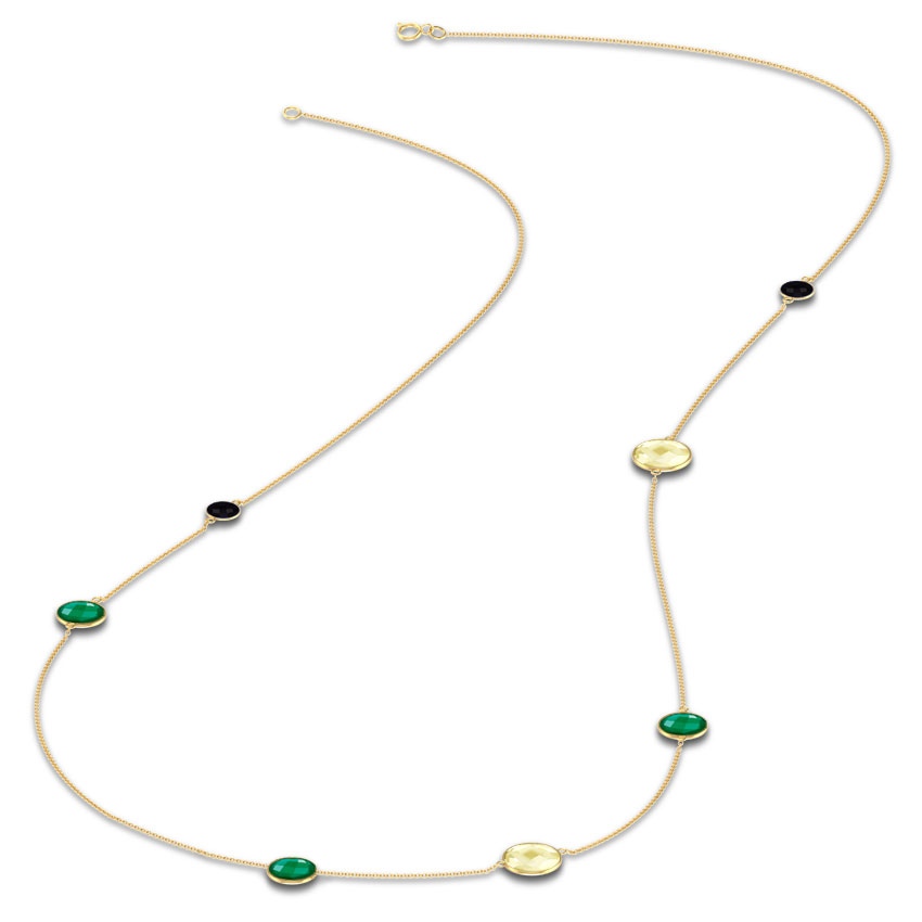 Asymmetric Gemstone Necklace