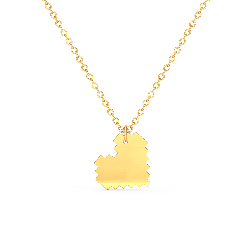 Classic Edgy Heart Necklace