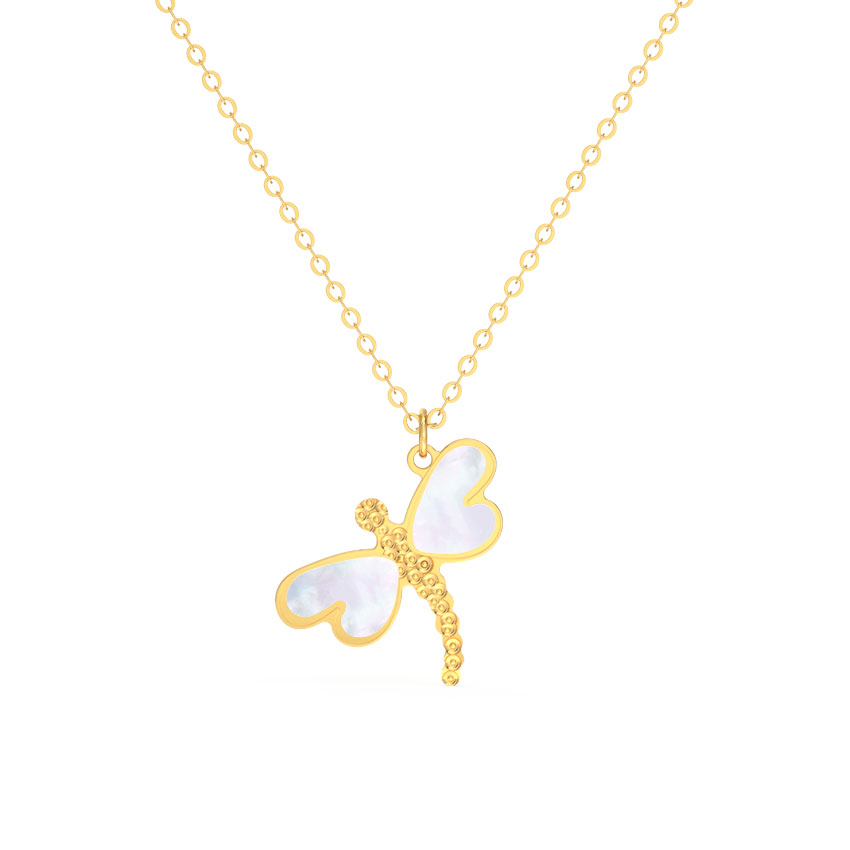 Dragonfly Mother of Pearl Necklace