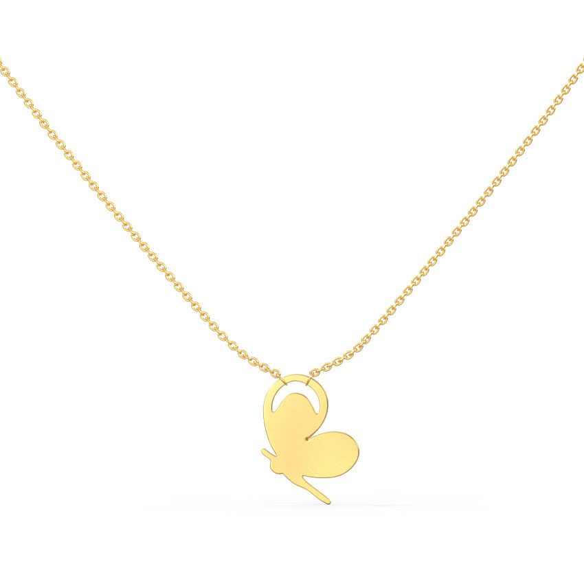 Gold Necklaces 14 Karat Yellow Gold Minimalistic Fairy Gold Necklace
