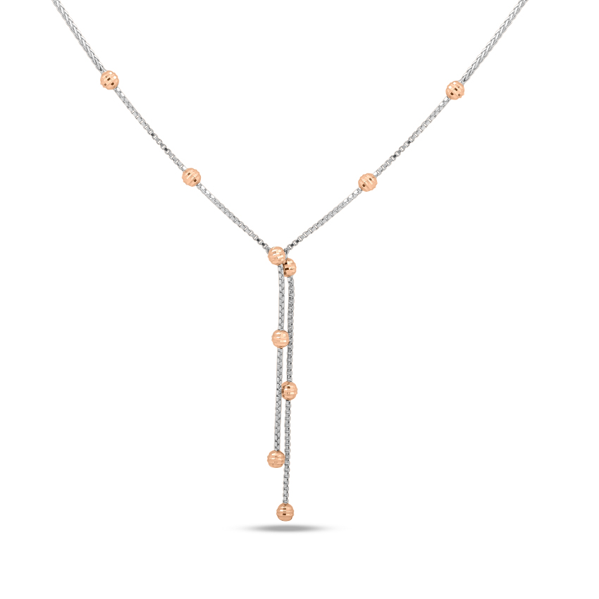Beaded Lariat Necklace