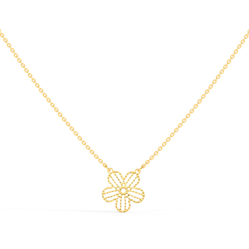 Jazzy Blossom Chain Necklace