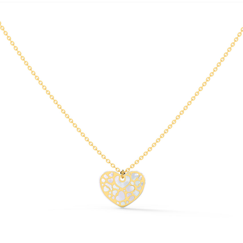Gold Necklaces 14 Karat Yellow Gold Sweetheart Gold Necklace