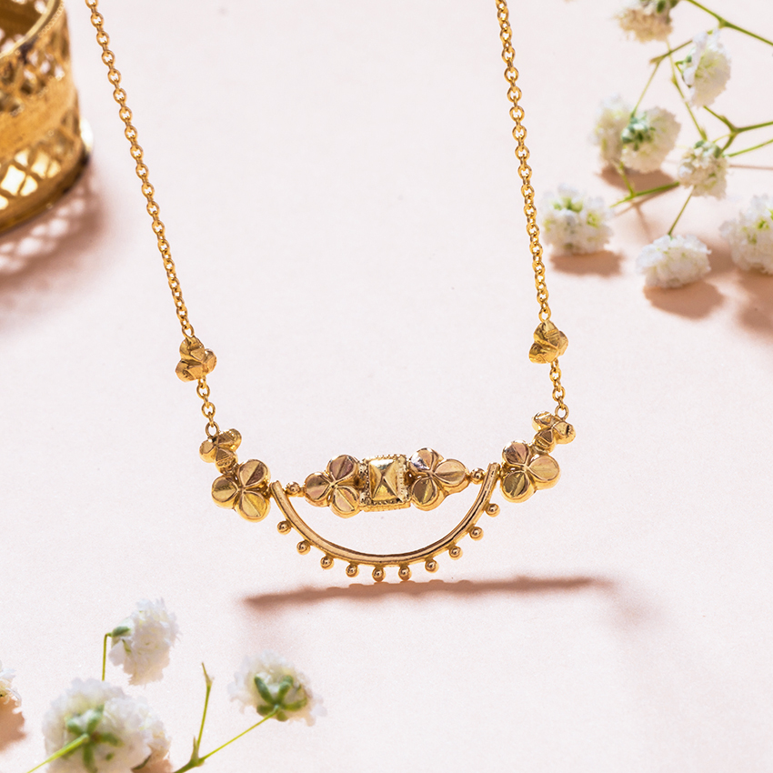 Gold Necklaces 18 Karat Yellow Gold Shifa Gold Necklace