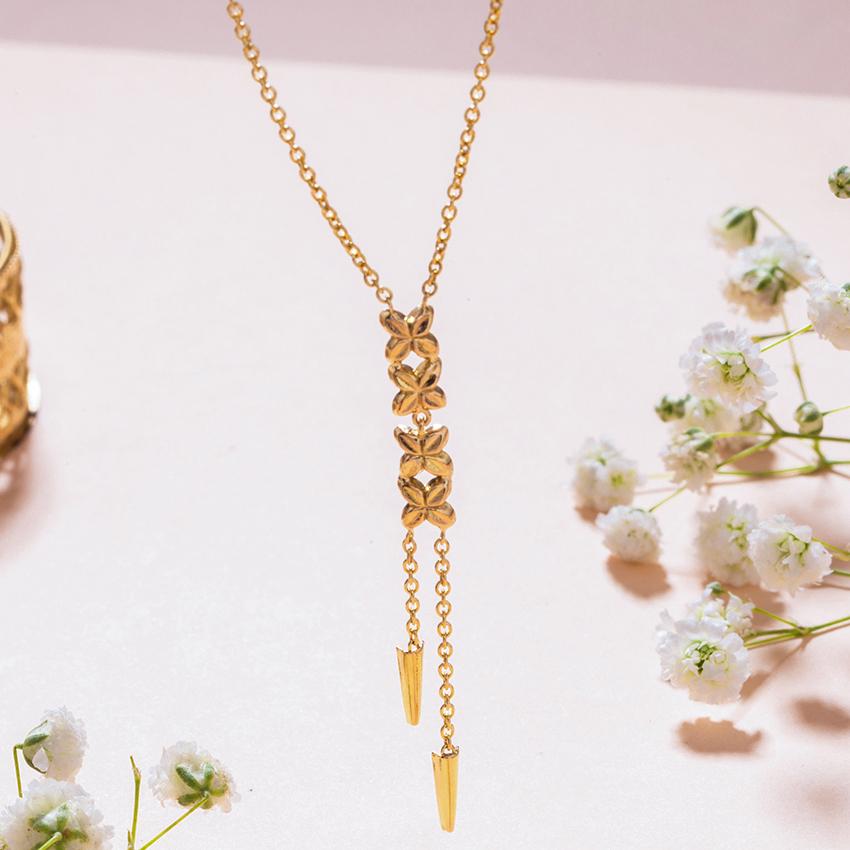 Gold Necklaces 18 Karat Yellow Gold Dhriti Gold Necklace