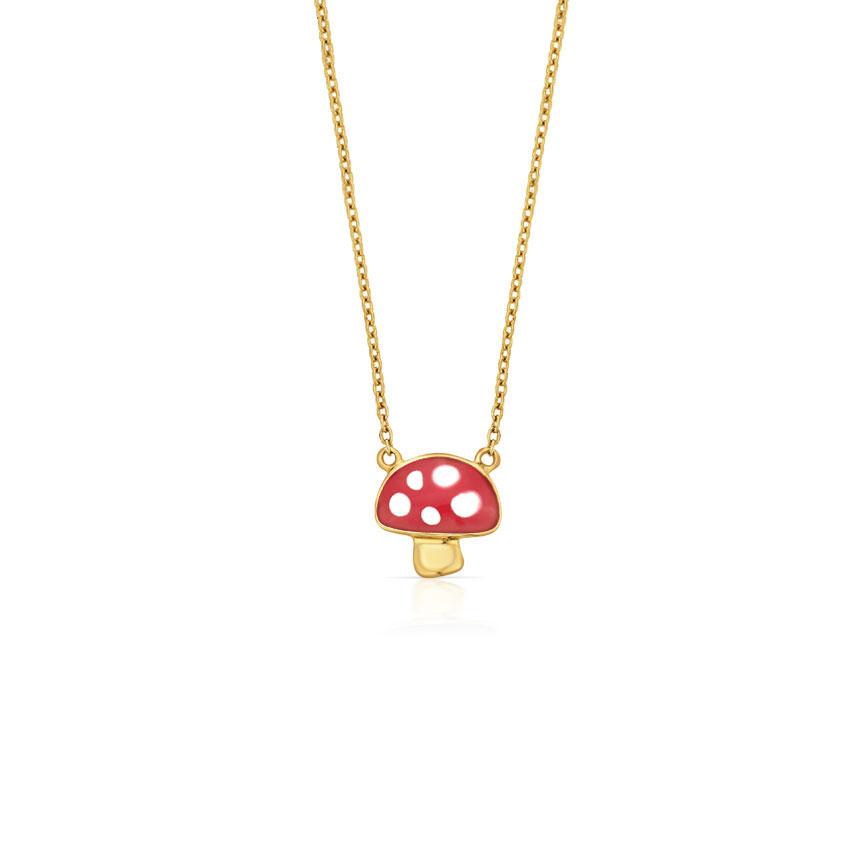 Chubby Mushroom Kids' Necklace