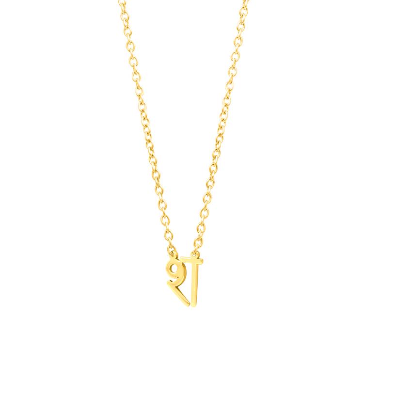 Gold Necklaces 14 Karat Yellow Gold Sha Akshar Gold Necklace