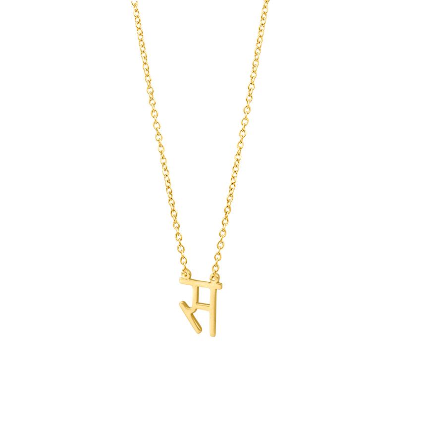 Gold Necklaces 14 Karat Yellow Gold Sa Akshar Gold Necklace