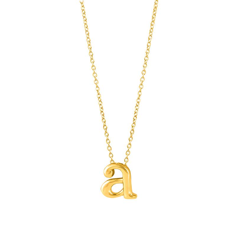 Classic Alphabet A Necklace
