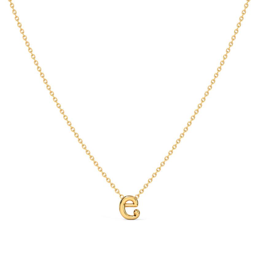 Classic Alphabet E Necklace