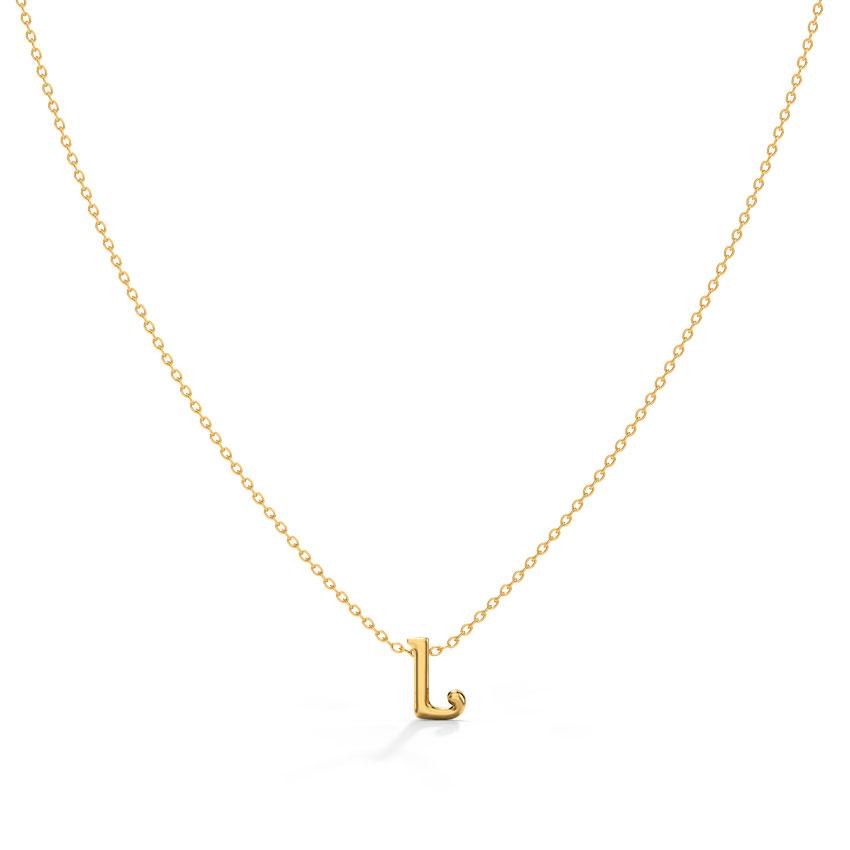 Classic Alphabet L Necklace