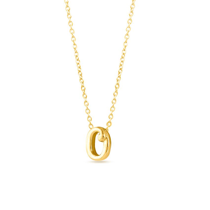 Classic Alphabet O Necklace