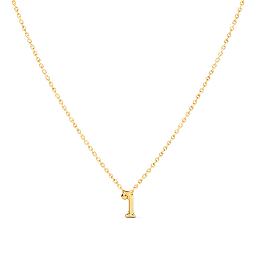 Gold Necklaces 14 Karat Yellow Gold Classic Alphabet Q Gold Necklace
