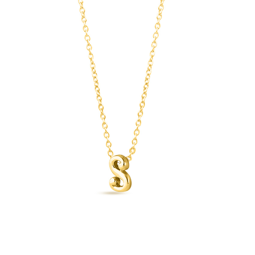 Classic Alphabet S Necklace