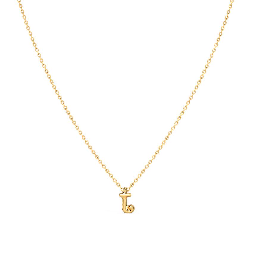 Classic Alphabet T Necklace