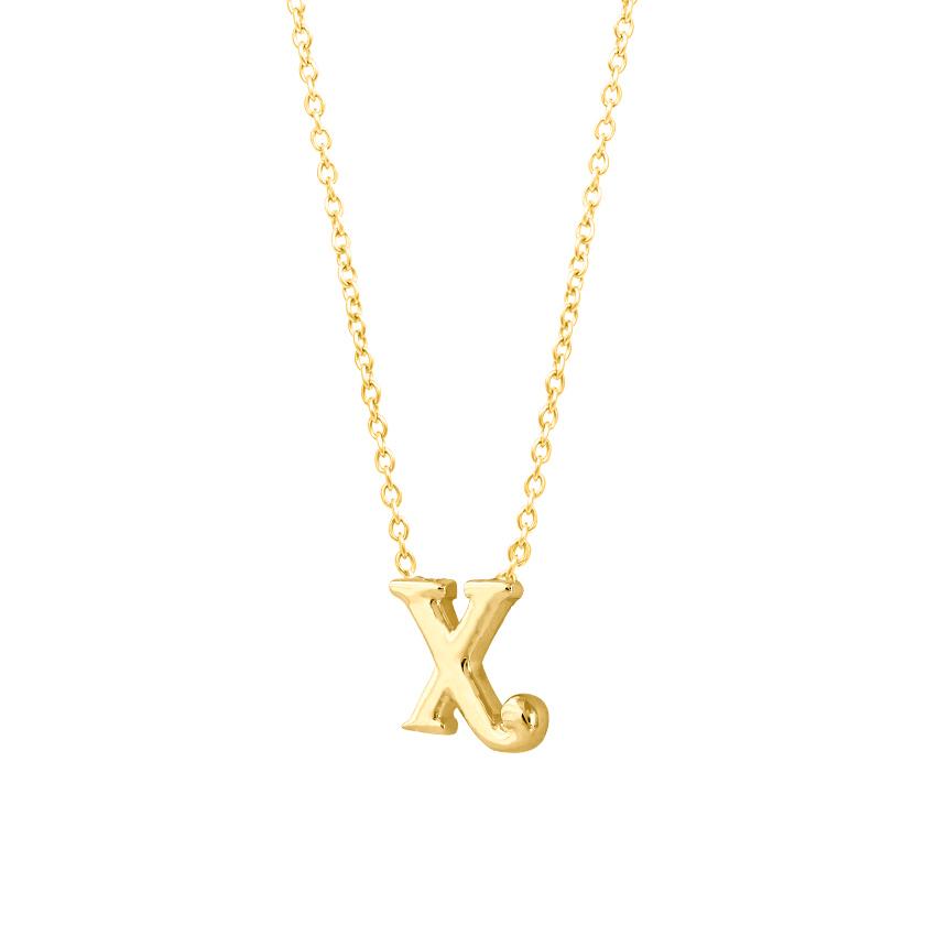 Classic Alphabet X Necklace