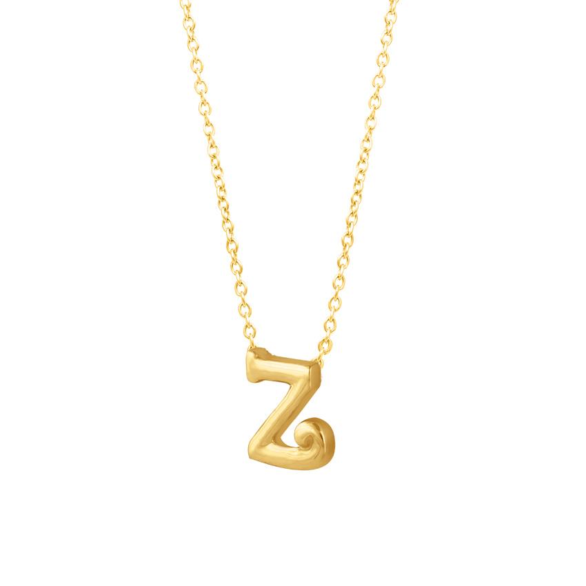 Classic Alphabet Z Necklace