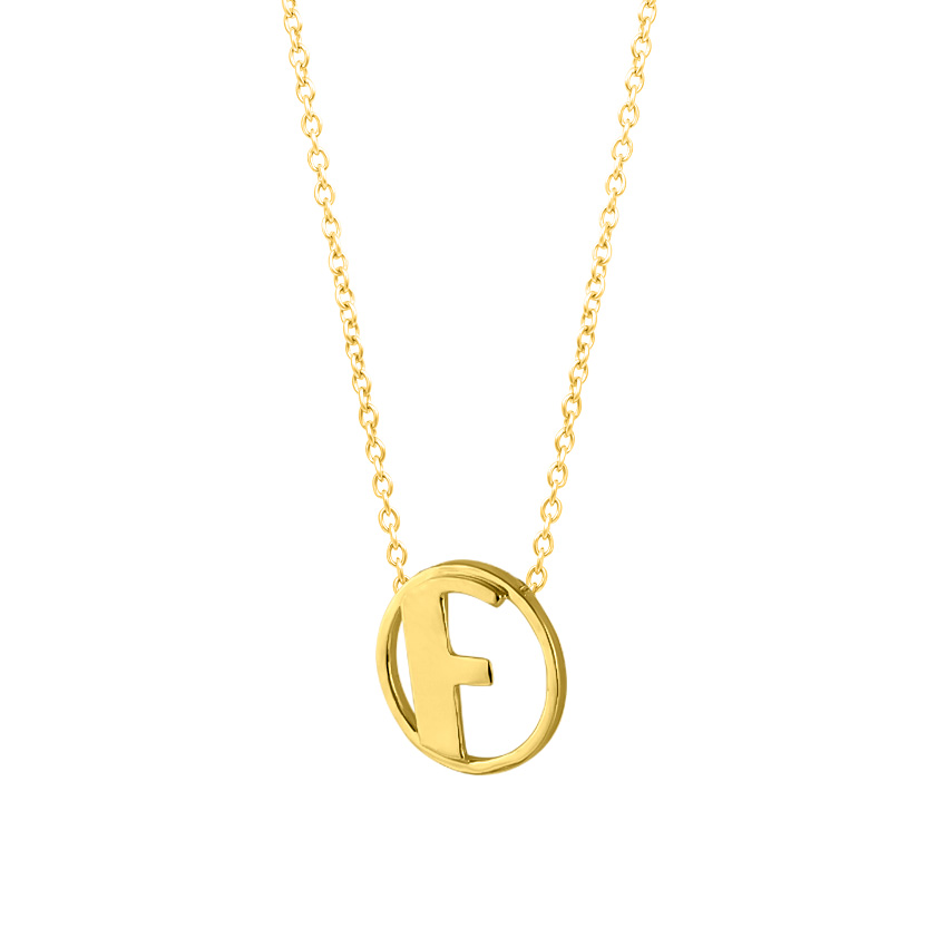 Artsy Alphabet F Necklace