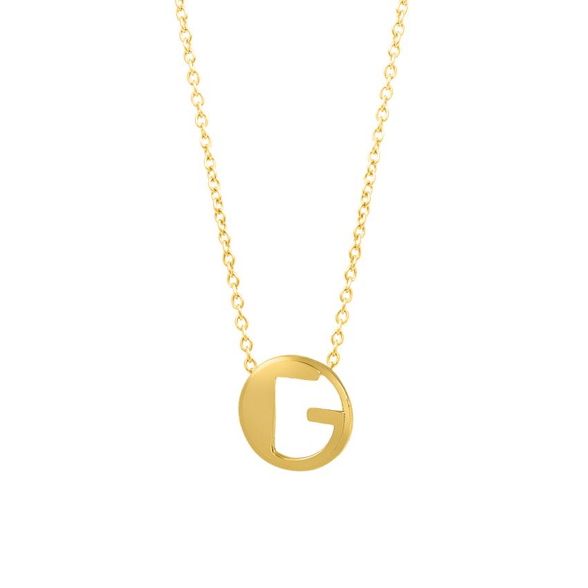 Artsy Alphabet G Necklace