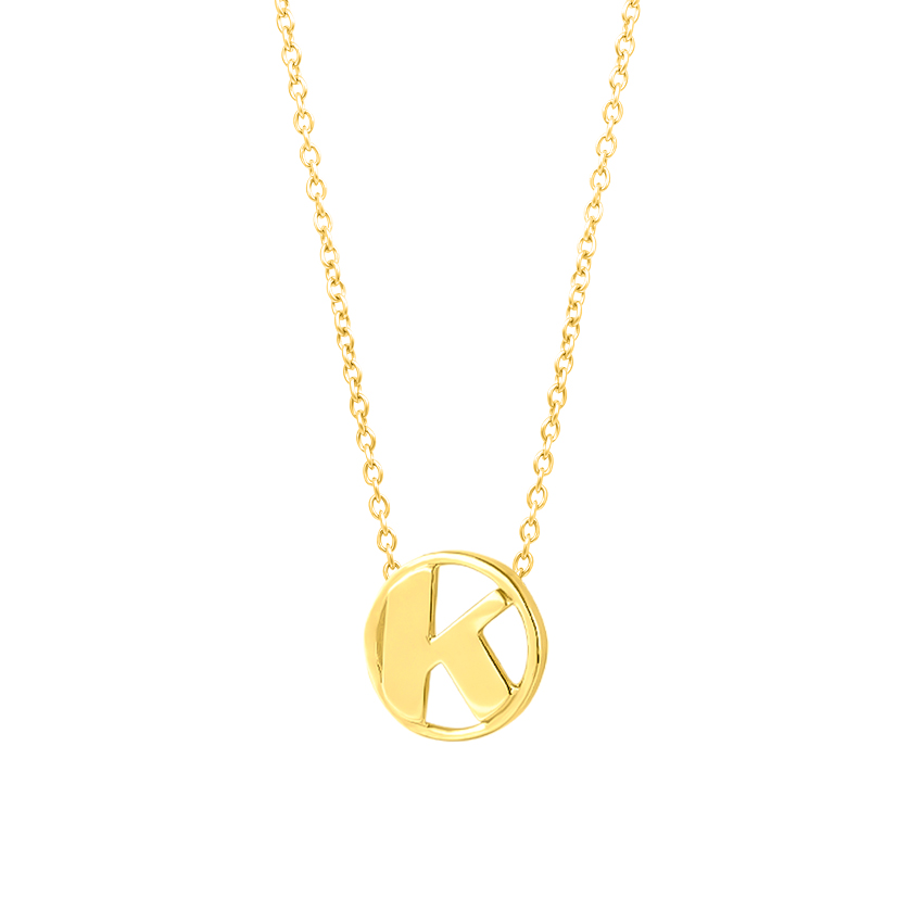 Artsy Alphabet K Necklace