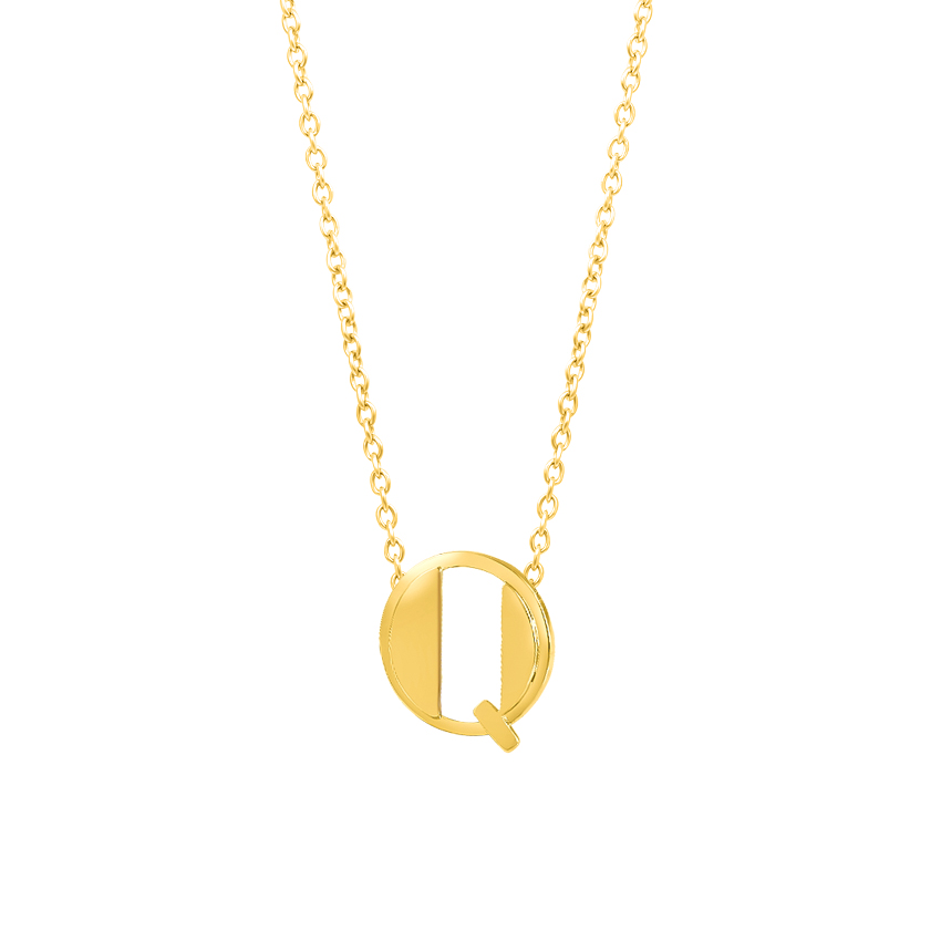 Artsy Alphabet Q Necklace