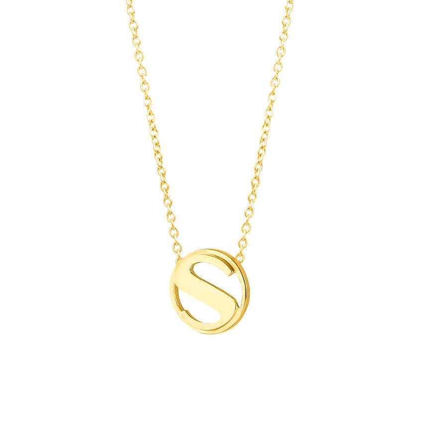 Artsy Alphabet S Necklace
