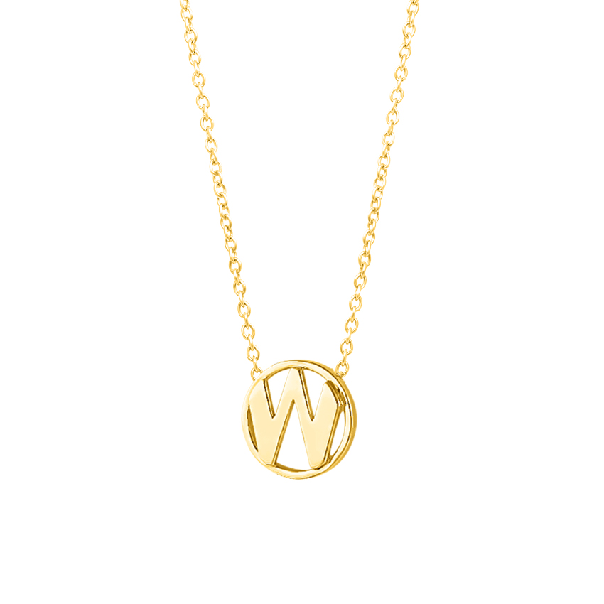 Artsy Alphabet W Necklace