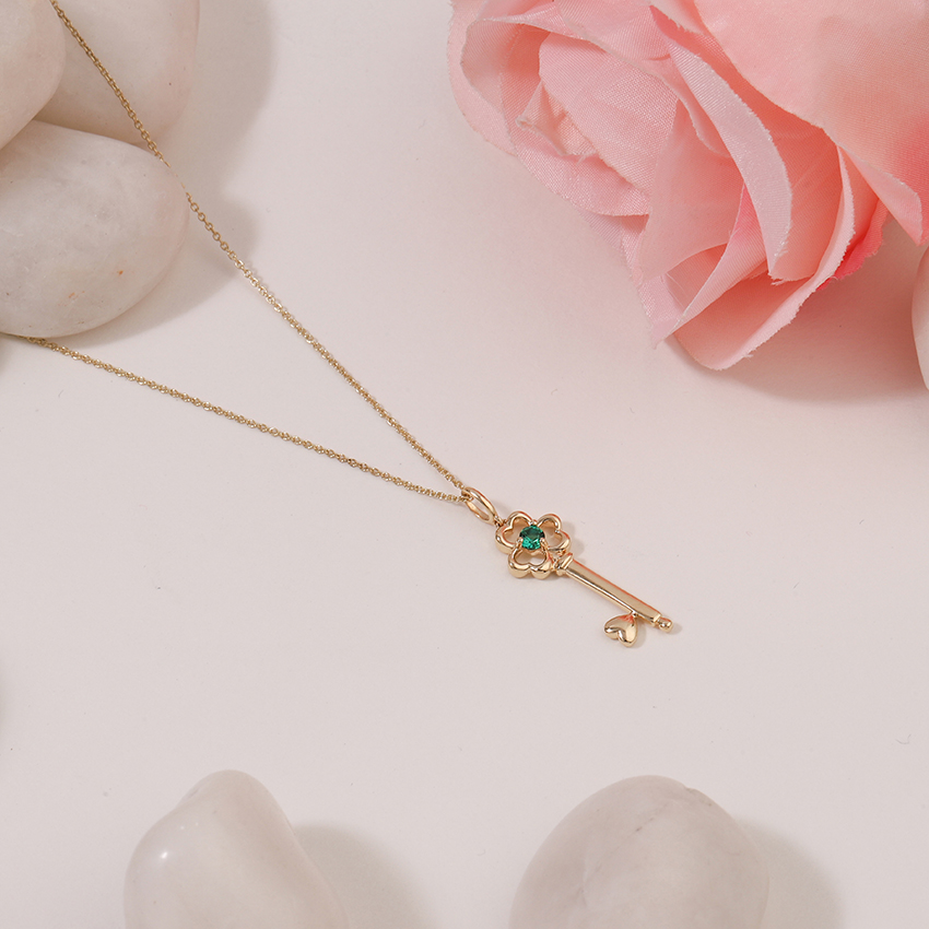 Verdant Floret Key Necklace