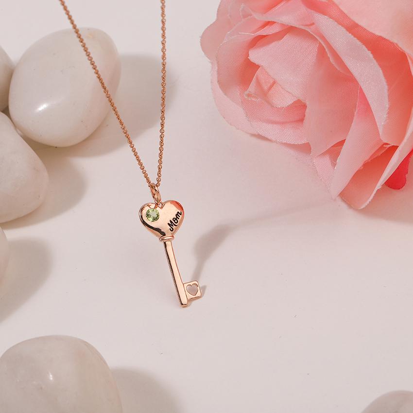Peridot Amore Key Necklace