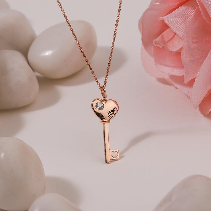 Topaz Amore Key Necklace