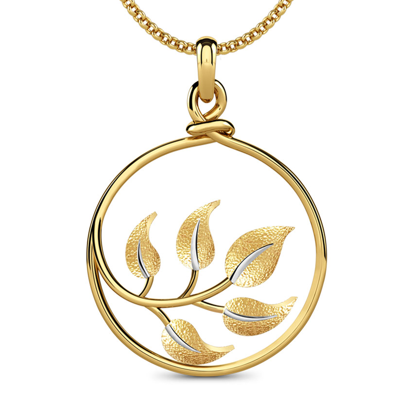 Framed Leaf Pendant