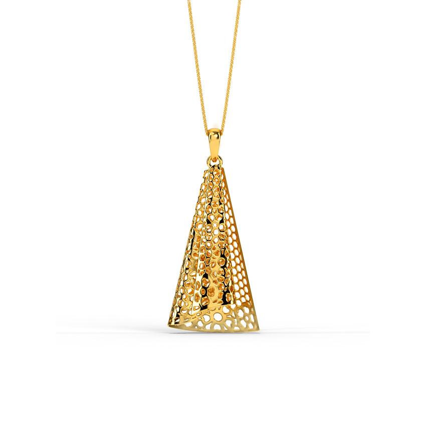 Rosa Ruffle Gold Pendant