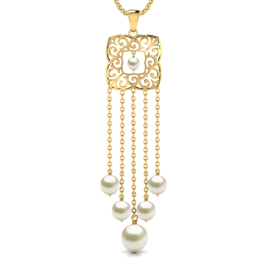 Evera Cutout Gold Pendant