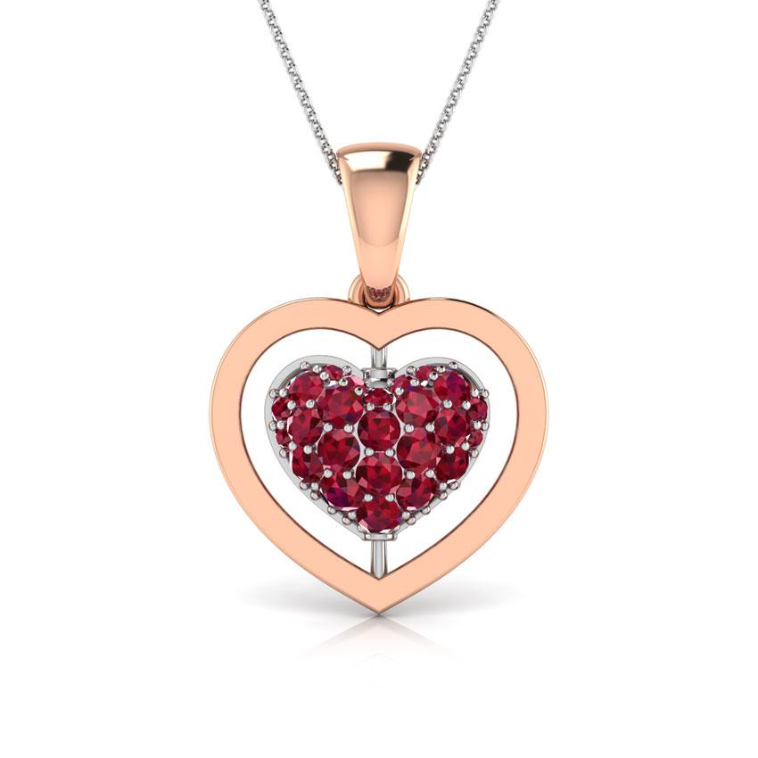 Amour Flip Heart Pendant