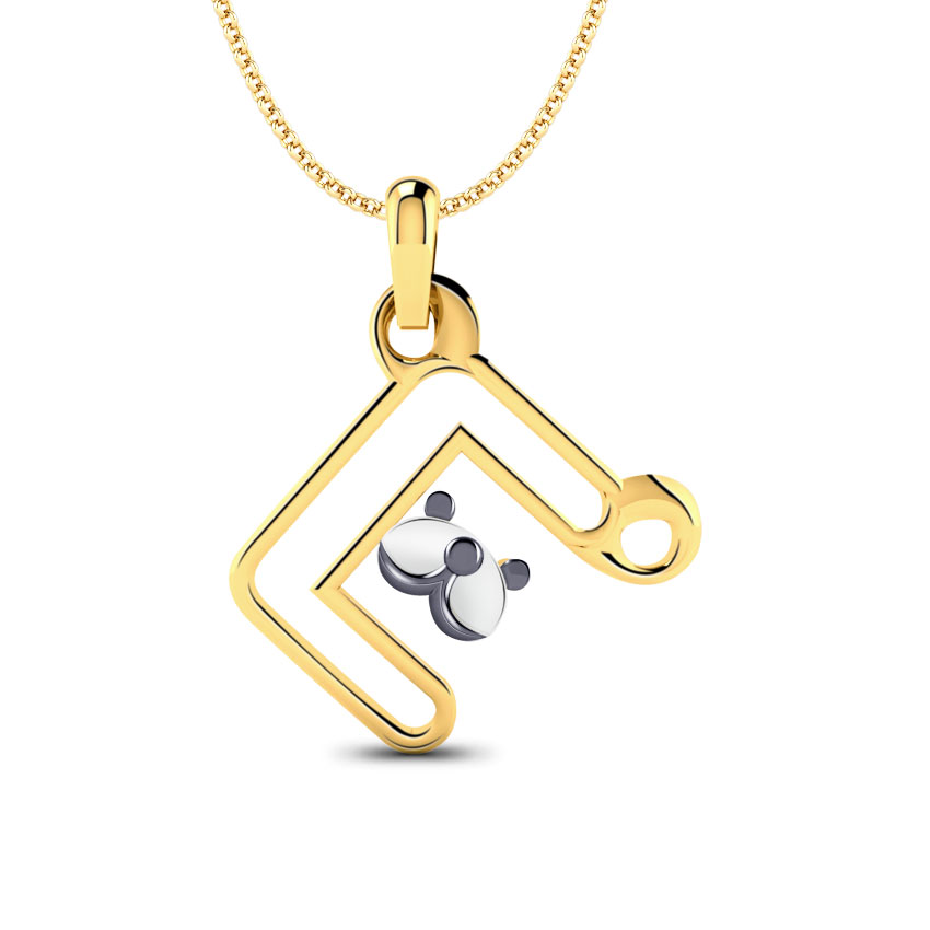 Teddy Alphabet E Kids' Pendant
