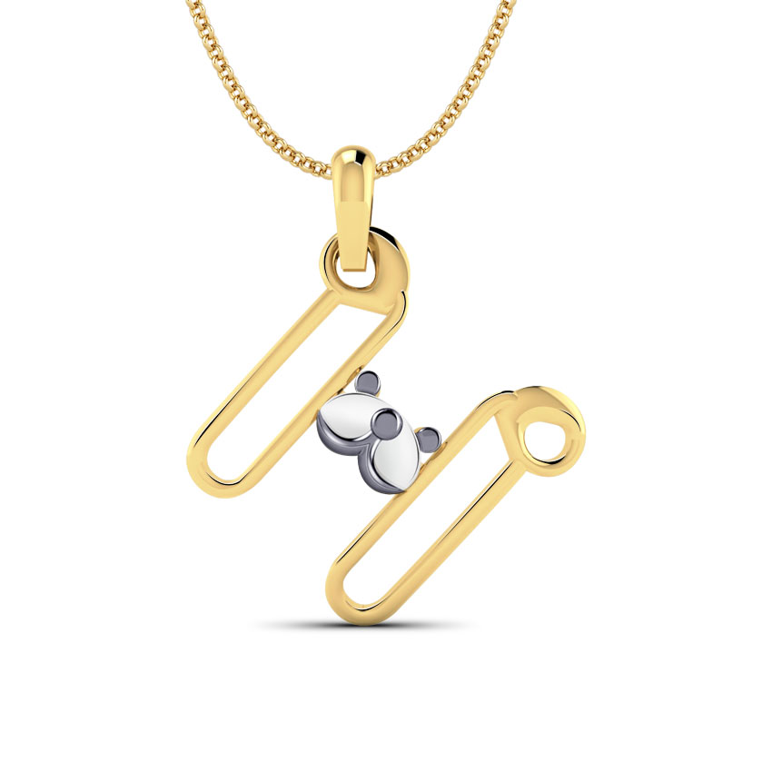 Teddy Alphabet H Kids' Pendant