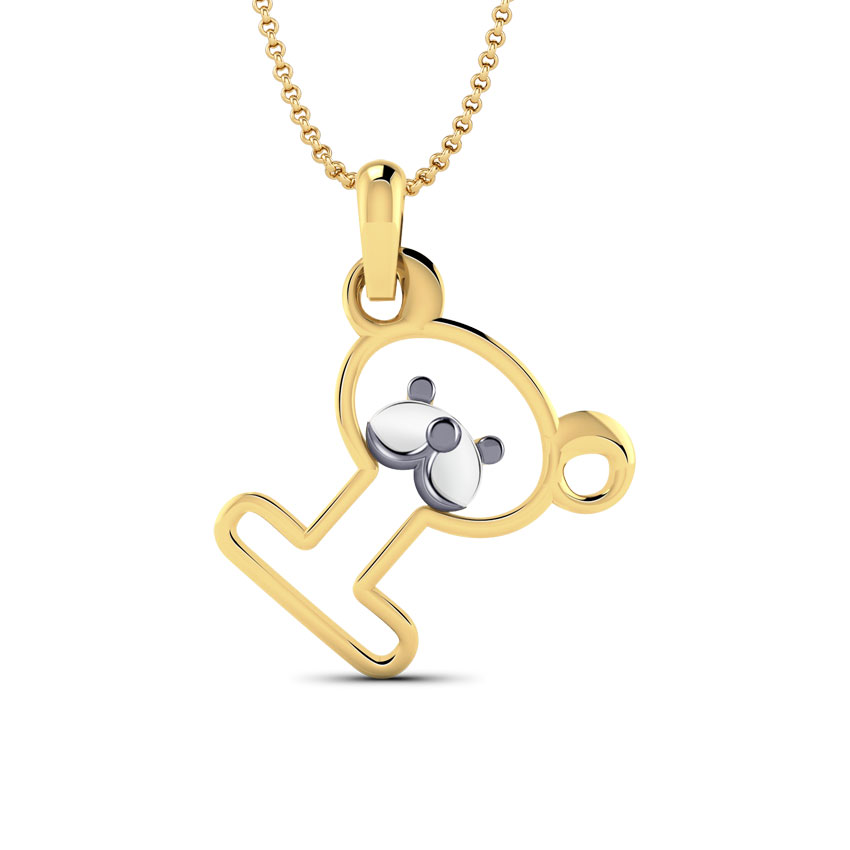 Teddy Alphabet I Kids' Pendant