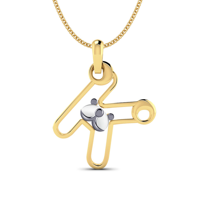 Teddy Alphabet K Kids' Pendant