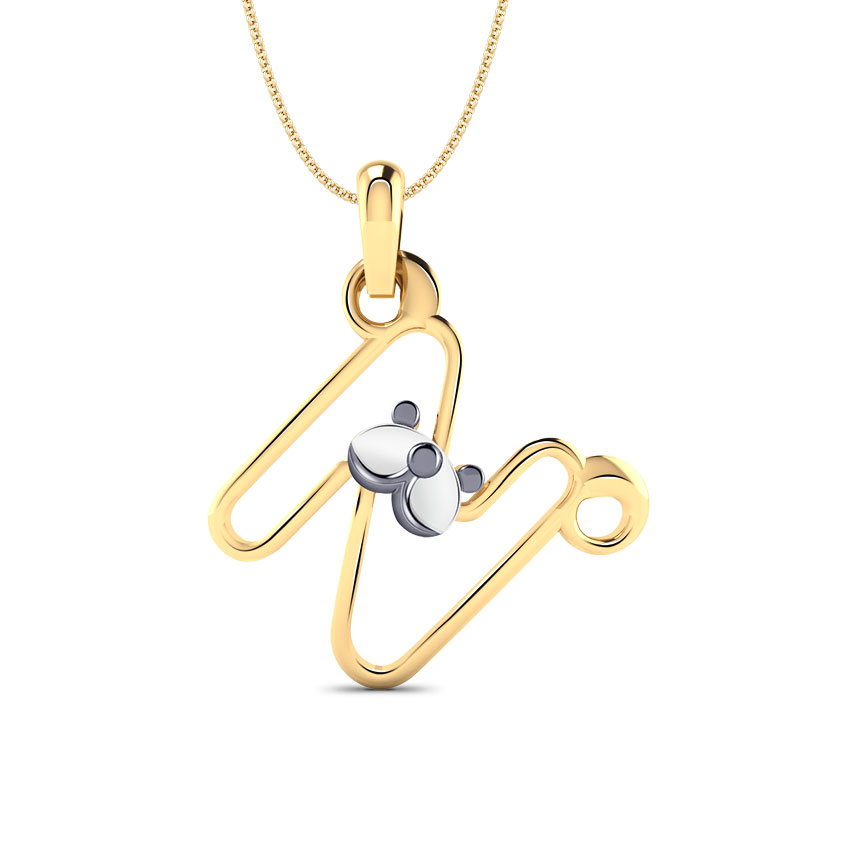 Teddy Alphabet N Kids' Pendant