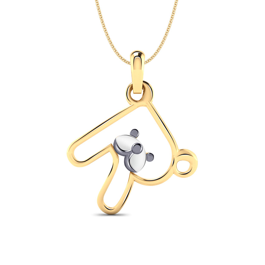 Teddy Alphabet R Kids' Pendant