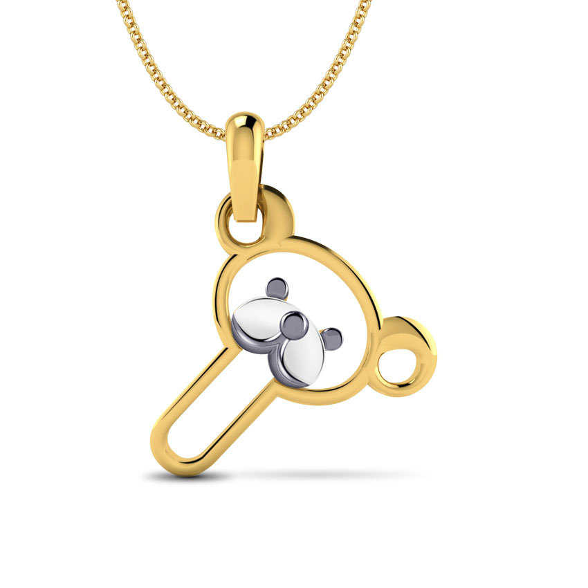 Teddy Alphabet T Kids' Pendant